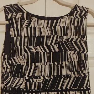 Taylor black & white sheath dress size 8